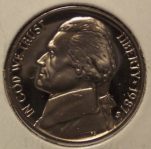 Primary image for 1987-S Cameo Proof Jefferson Nickel #0780