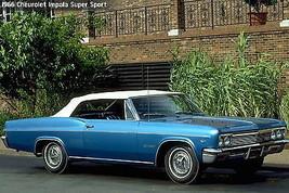 1966 Chevy Impala Super Sport white top   24 x 36 INCH   sports car - $18.99