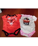 SAN FRANCISCO GIANTS BODYSUIT CREEPER OFFICIAL 6/9M set of 2 girls Pink ... - $13.85