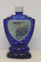Vintage 1950s Blue Gardenia Cologne Perfume by Darcel Cobalt Blue Bottle - $25.00