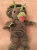 "Build a Bear Dinosaur Green Soft Plush Triceratops Stuffed Animal BABW 17"" - $13.50"