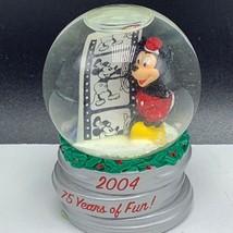 Mickey Mouse Walt Disney snowglobe 75 years 2004 movie film snowdome water ball - $22.77