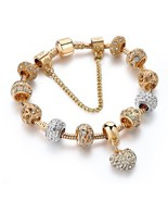 CHICVIE Gifts Gold Color Crystal Heart Charm Personalized Bracelets & Ba... - $14.90
