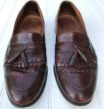 Bostonian Florentine Burgundy Loafers Shoes Kiltie Tassel Leather Men 12 M 26518 - $26.23