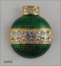 Eisenberg Ice Green Enamel Ornament Shape Pin (#J915) - $48.00