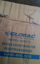 GLOBAL INDUSTRIAL Double Socket Base for Pedestrian Barrier 940375 image 3
