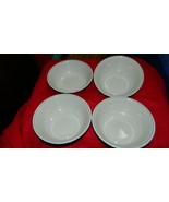 CORELLE GRAY STRIPE BEIGE CEREAL 18 OUNCE CEREAL / SOUP BOWL X 4 FREE US... - $28.04