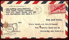 1945 WWII CENSORED COVER USA Censored Cover from 91st Air Depot NY to Br... - $9.99