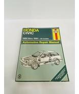 Haynes Honda Civic Repair Manual 84 Thru 91 - $9.50