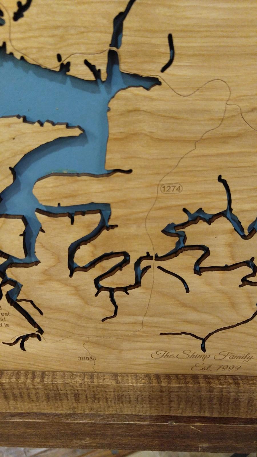 Cave Run Lake, Kentucky - Laser Cut Wood Map and 41 similar items Kentucky Road Map Laser Cutter on