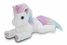 Bearington Rainbow Shimmers White Plush Stuffed Animal Unicorn, Rainbow ... - $19.44