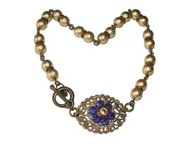 GORGEOUS VINTAGE JEWELED FILIGREE PEARL NECKLACE CHOKER - $29.99