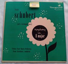 Franz Schubert - Symphony In E Major Vienna State Opera Orchestra RARE L... - $15.00