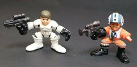 Hasbro Star Wars Galactic Heroes Wedge & Luke Skywalker 2 mini figures chunky - $5.89