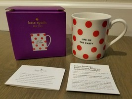Kate Spade Lenox Wickford Mug Life Of The Party Coffee Cup in Gift Box 1... - $24.74