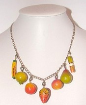 UNIQUE CARMEN MIRANDA VINTAGE CHUNKY YUMMY FRUIT NECKLACE - $29.99