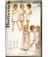 Vintage Butterick #2994 Girl's LINGERIE WARDROB... - $8.00