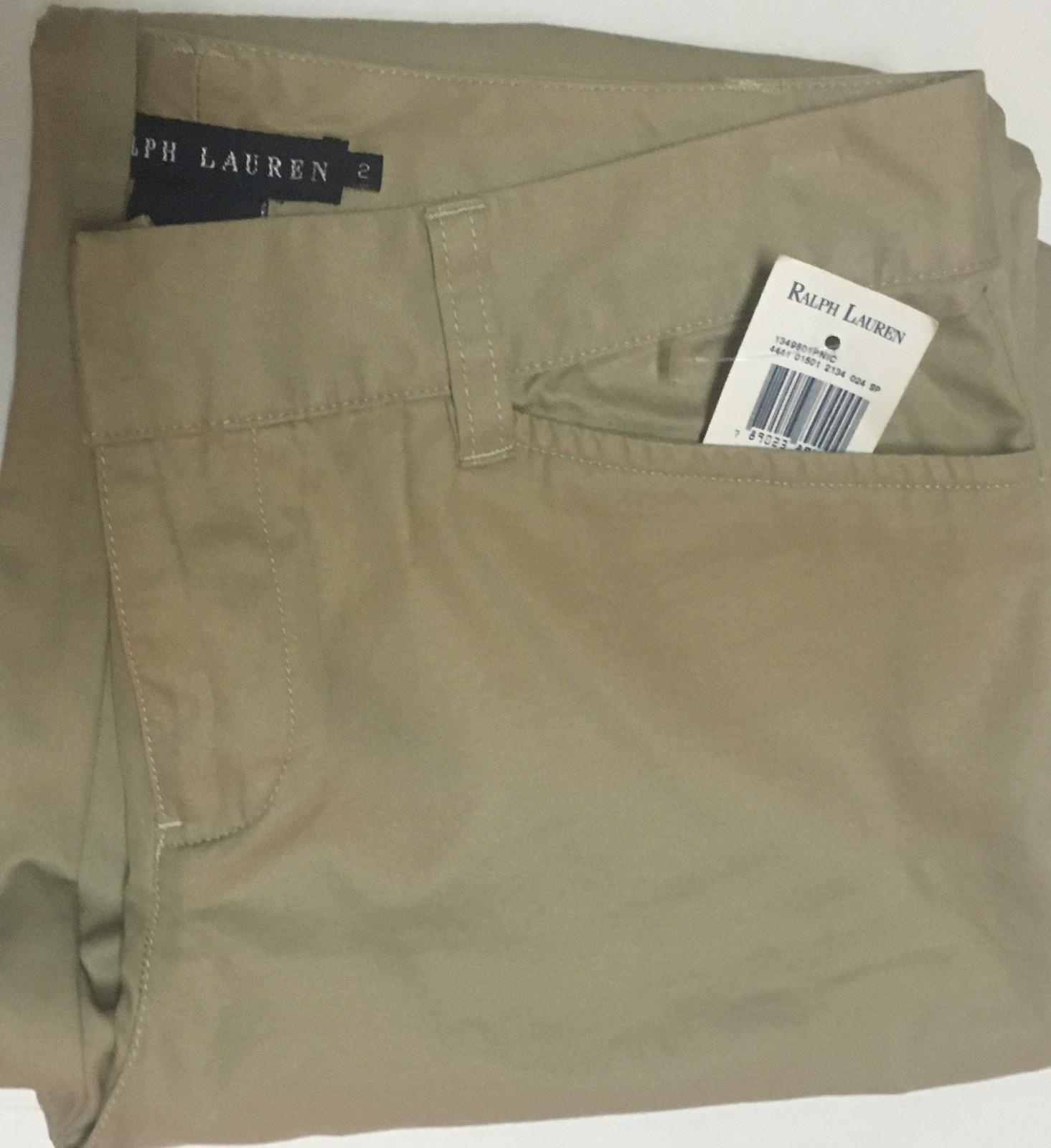 Ralph Lauren Khaki Flare Pants Sz 2