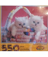 Don't Get Carried Away Jigsaw Puzzle 550 Pc Kittens in Basket by Ceaco N... - $20.48