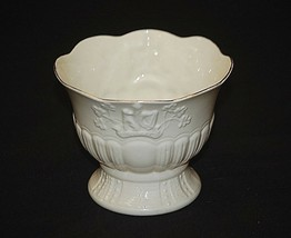 Belleek Ireland Celtic Wolfhound Tower Vase Collectors Society Red Makers Mark - $34.64