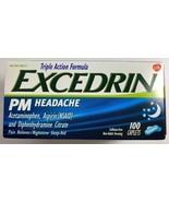 Sealed Excedrin PM Sleeping Aid Headache Relief 100 Caplets Caffeine Free  - $39.35