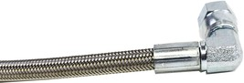 """48"""" Steel Braided Turbo Oil Feed Line -4AN 90 Degree Straight Ends Teflon Core image 6"""