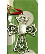 LENOX BEJEWELED SILVER PLATED ORNAMENT W BOX, CROSS , FREE SHIPPING✈✈ - $9.99