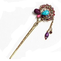 Chinese Traditional Metal Butterfly Ladies/ Girls Hair Stick, Multicolour