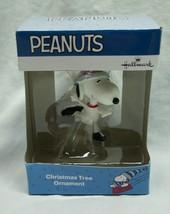 "PEANUTS SNOOPY ICE SKATER 2"" HALLMARK CHRISTMAS HOLIDAY ORNAMENT NEW - $14.85"