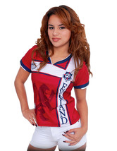 England Women Arza Soccer Jersey 100% Polyester. color Red and White - $23.99