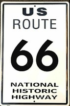 "U S ROUTE 66 National Historic Highway Aluminum Wall / Man-Cave Sign 12""... - $15.99"