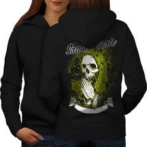 Santa Muerte Skull Sweatshirt Hoody Death Rage Women Hoodie Back - $21.99+