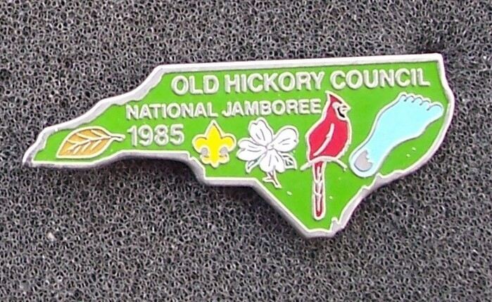 Old Hickory Council 1985 National Jamboree Boy Scouts Pin