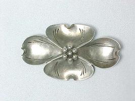 Large Vintage DOGWOOD BROOCH Pin in STERLING Silver - STUART NYE signed - $55.00