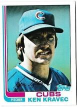 1982 Topps Ken Kravec #639 Baseball Card Chicago Cubs - $1.97