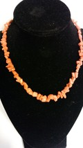 """Chinese Coral Necklace, Vintage 16"""" - $87.03"""