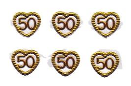 Gold 50 in a heart mini charm ornaments capias craft accessories - $2.38+