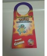 """Nintendo Pokemon Squirtle  Door Hanger Do Not Disturb Sign """"Trainer Rech... - $14.80"""