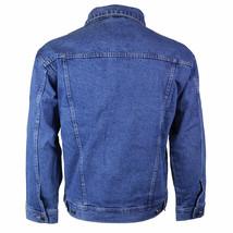 Star Jean Men's Classic Premium Button Up Cotton Denim Jean Jacket Blue image 2