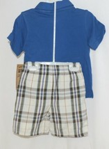 Little Rebels Boys Two Piece Born 2 Rock Shirt Shorts Outfit 12 Months image 2