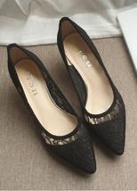 Low Heels Grey Lace Wedding Shoes,Gray Women Bridal Heels,Grey Evening Shoes image 6