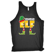 Grandad Elf Grandpa Pappa Grandfather Birthday Joke BELLA VEST SINGLET TOP - $11.71