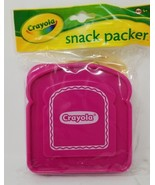 Crayola Sandwich Snack Packer Container Pink Top Purple Bottom BPA Free ... - $3.95