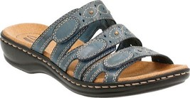 Clarks Leisa Cacti Sandals (Women's) $85 in Denim Blue Leather - NEW IN BOX - $80.70
