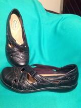 Clarks Bendables Women's Ashlands Rivers 6M Black Flats Shoes 65064 Mrsp $88 - $39.59