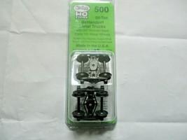 Kadee # 500 Bettendorf 50 Ton Metal Trucks Code 110 Metal Wheels 1 Pair HO Scale image 1
