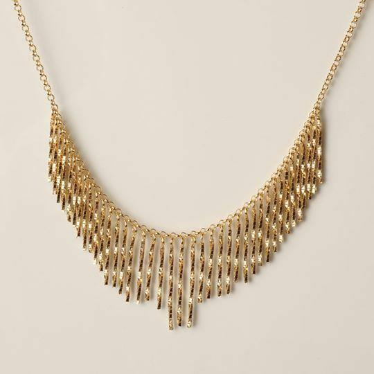 Silver Necklace 925 Laminated Yellow Gold, Rose Gold or Rhodium by Maria Ielpo