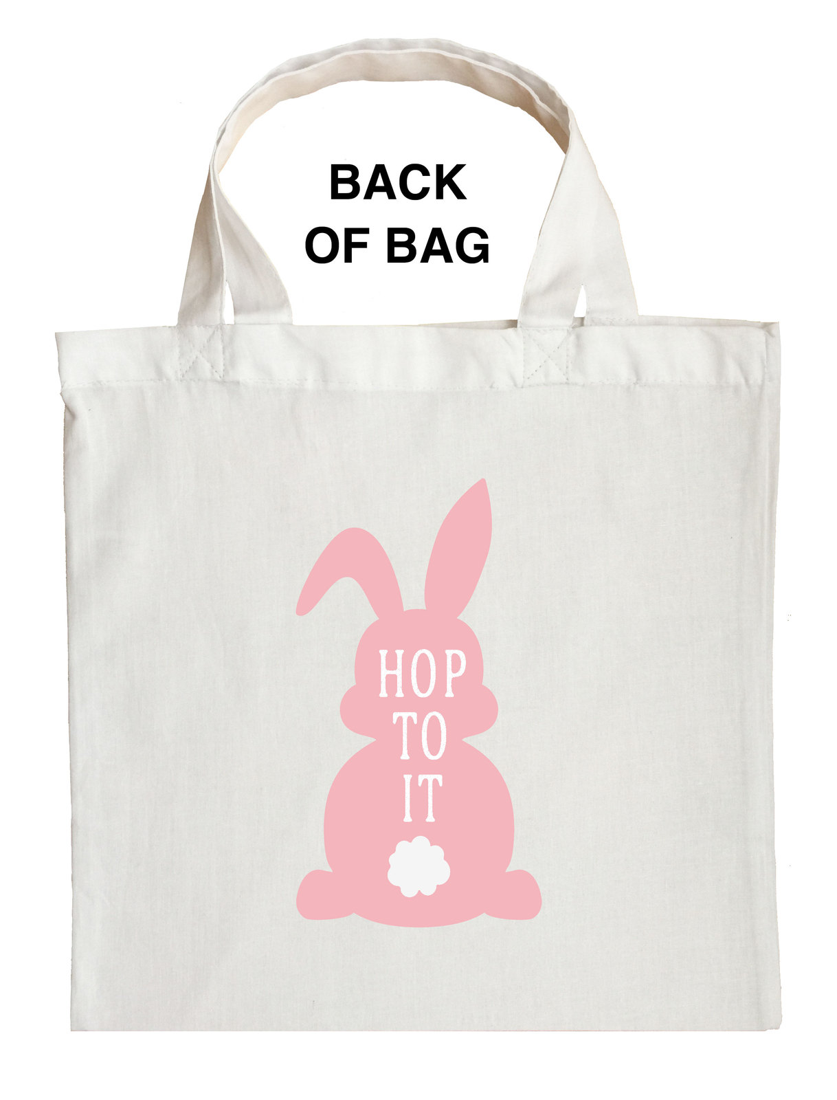 Bunny Trick or Treat Bag, Personalized Bunny Halloween Bag, Bunny Loot Bag