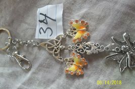 # purse jewelry silver color farie  keychain backpack filigree dangle charm #34 image 3