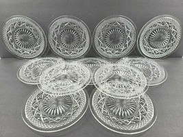 """11 Imperial Glass Cape Cod Clear Bread Butter Plates Set Vintage 6 5/8"""" ... - $79.07"""